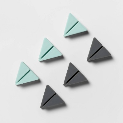 heyday™ Triangle Clip Cable Management 6pk - Mint & Cool Gray