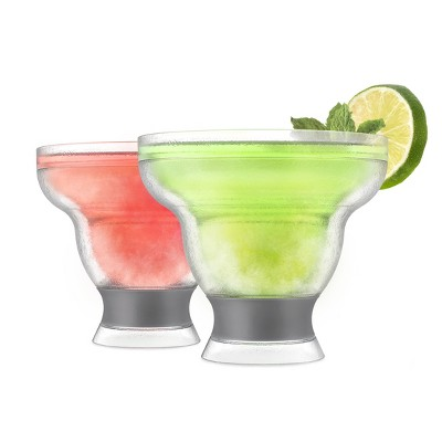 True Fabrications Host Plastic Stemless Margarita Glasses 24oz Gray - Set of 2