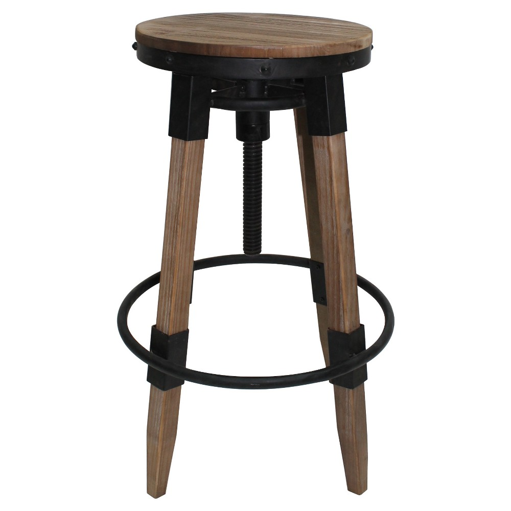 Grady Swivel Barstool - Antique - Christopher Knight Home, Brown