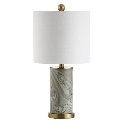 20.5  Swirl Ceramic LED Table Lamp Green (Includes Energy Efficient Light Bulb)- JONATHAN Y