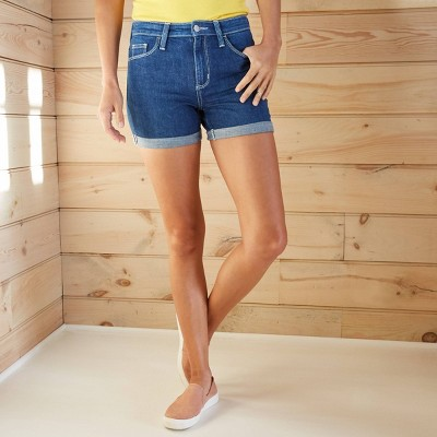 Women's High-Rise Jean Shorts - Universal Thread™ Blue Jay