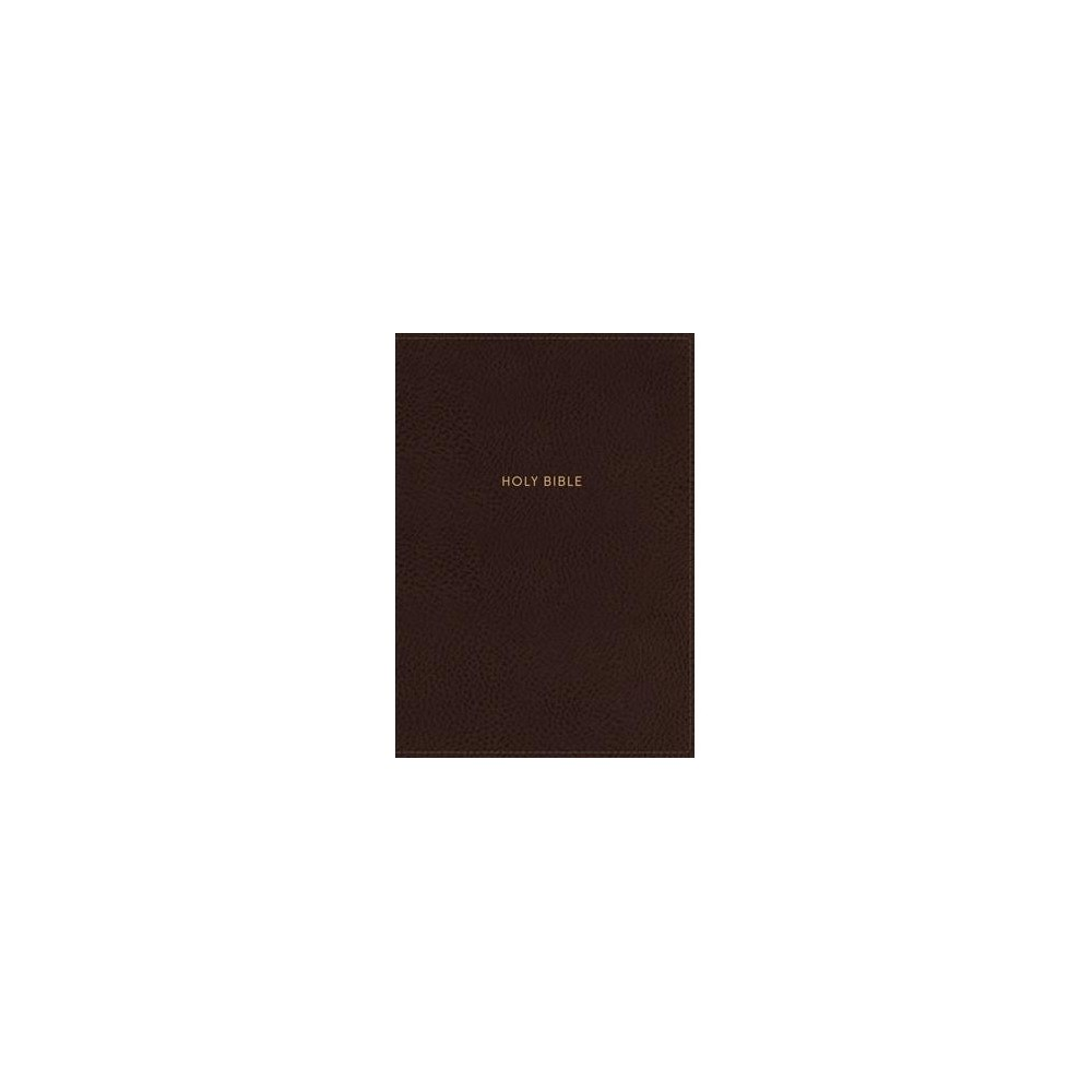 Holy Bible : New King James Version, Brown, Compact Single-Column Reference Bible, Imitation Leather,