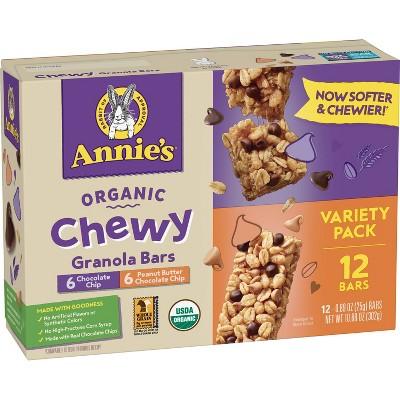 Annie's Chocolate Chip & Peanut Butter Value Pack Granola Bar - 10.68oz/12ct