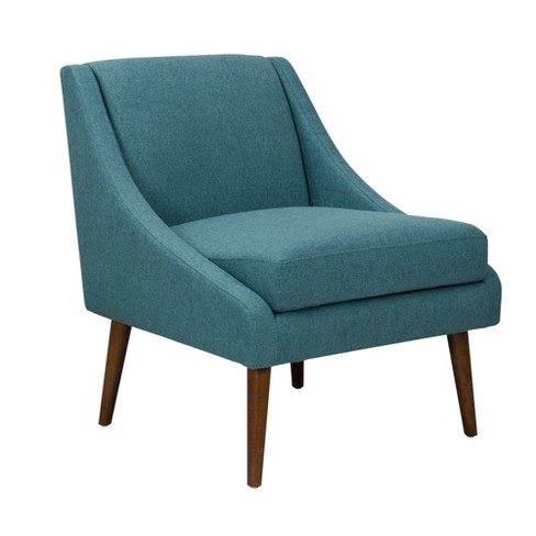 Modern Unique Accent Chairs.Kendall Modern Accent Chair Brushed Teal Homepop