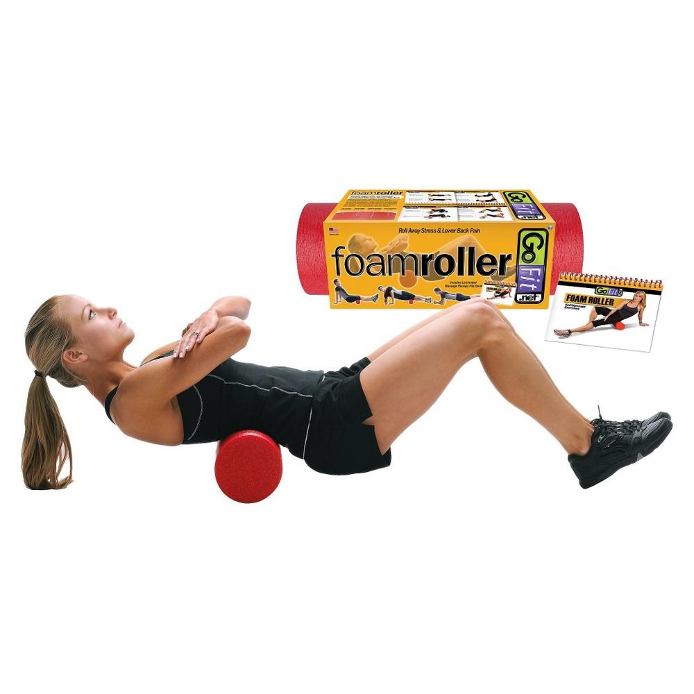 GoFit Ultimate 36 Foam Massage Roller + Exercise Booklet - Red