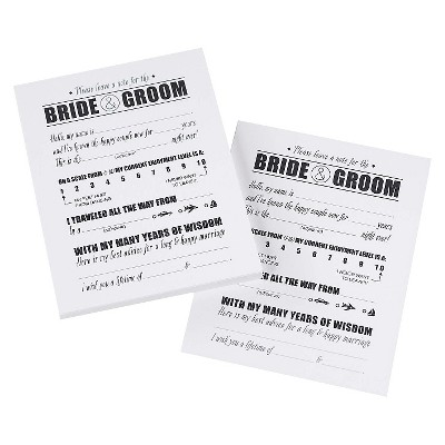 Notes For The Bride and Groom - White