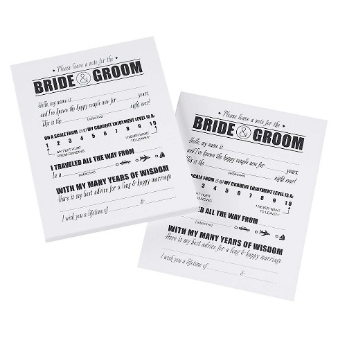 Notes For The Bride and Groom - White - image 1 of 1