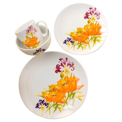 Euro Ceramica® Tiger Lily 16pc Dinnerware Set