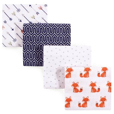 Hudson Baby Unisex Baby Cotton Flannel Receiving Blanket - Foxes One Size