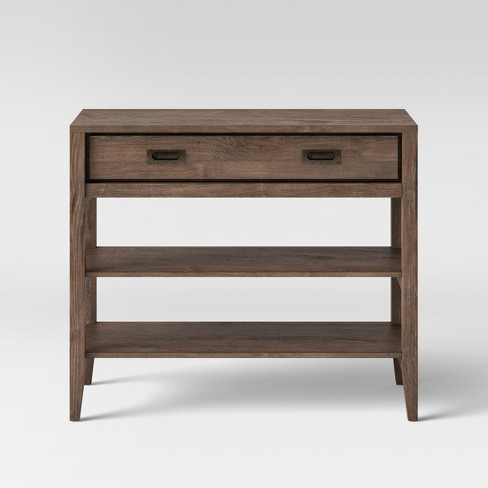 Millbury Rustic Wood Console Table Threshold