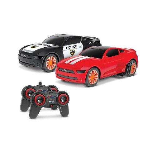 World Tech Toys Officially Licensed Ford Mustang Battle Pursuit Flip Action RC Cars -1;20 Scale - Double Pack - image 1 of 4
