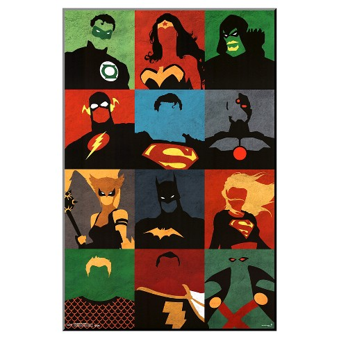 Justice League - Minimalist, Framed Poster - image 1 of 2