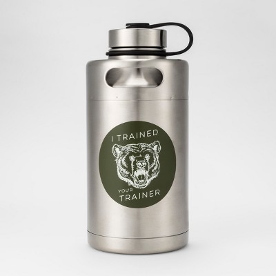 Stainless Steel Vacuum Insulated Keg Growler Water Bottle 64oz Trained Your Trainer - Room Essentials™