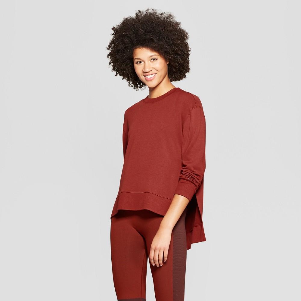 Women's Crew Neck Sweatshirt - JoyLab Madder Brown Xxl