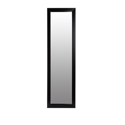 "15""x51"" Black Full Length Over The Door Mirror Black - Patton Wall Decor"
