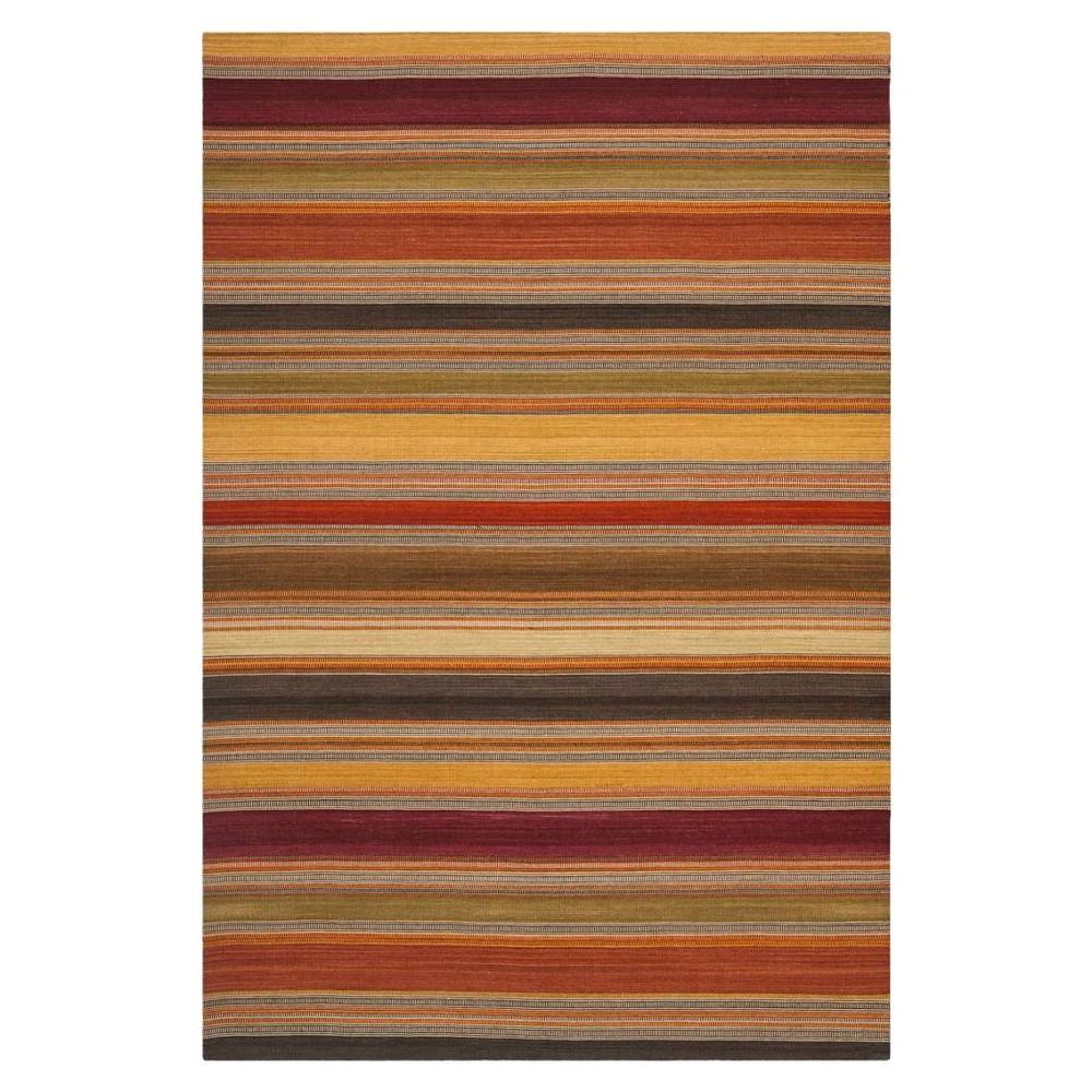Striped Kilim Rug - Gold - (6'x9') - Safavieh