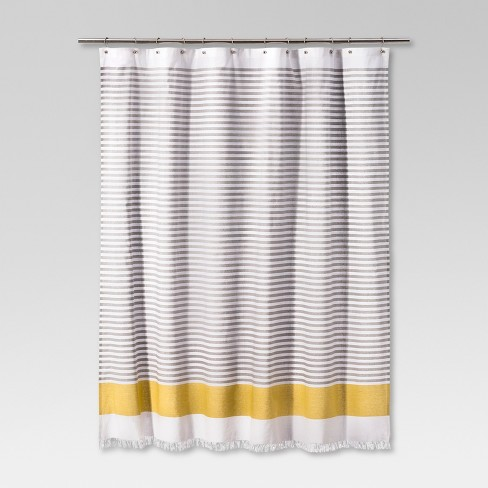 Dyed Shower Curtain Stripe Summer Wheat - Project 62™ - image 1 of 4