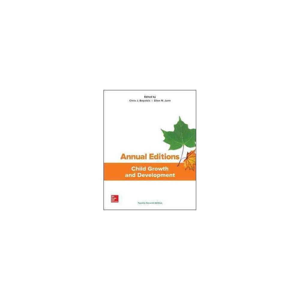Child Growth and Development (Annual) (Paperback) (Chris J. Boyatzis & Ellen N. Junn)