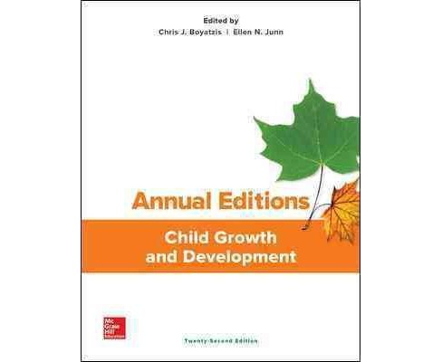 Child Growth and Development (Annual) (Paperback) (Chris J. Boyatzis & Ellen N. Junn) - image 1 of 1