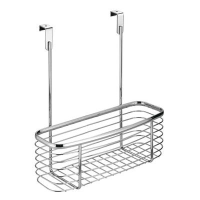 InterDesign Axis Over-the-Cabinet Storage Basket 11  Chrome