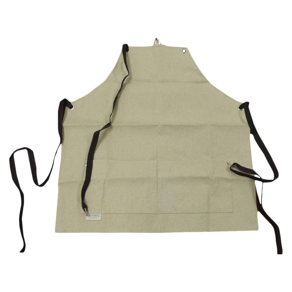 "Image of ""28"""" Canvas Gardening Apron Buff Beige - Smith & Hawken , White"""
