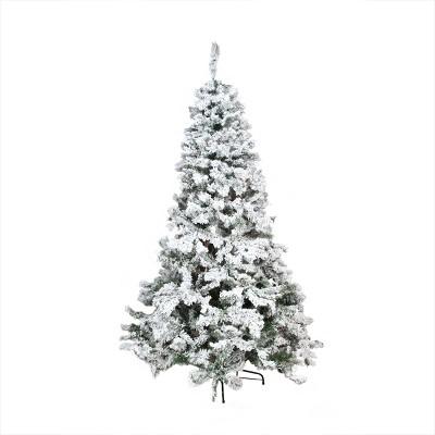 Northlight 7.5' Unlit Artificial Christmas Tree Heavily Flocked Pine Medium - Unlit