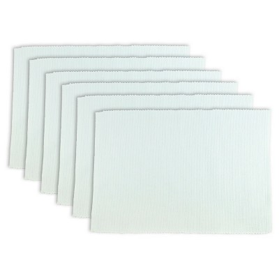 White Placemats (Set Of 6)- Design Imports