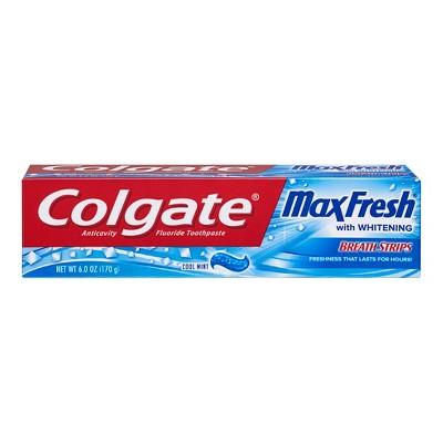 Toothpaste: Colgate Max Fresh with Mini Breath Strips