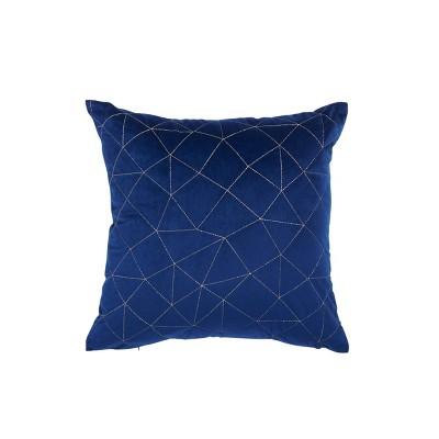 "18""x18"" Metallic Diamond Square Throw Pillow Blue - Sure Fit"