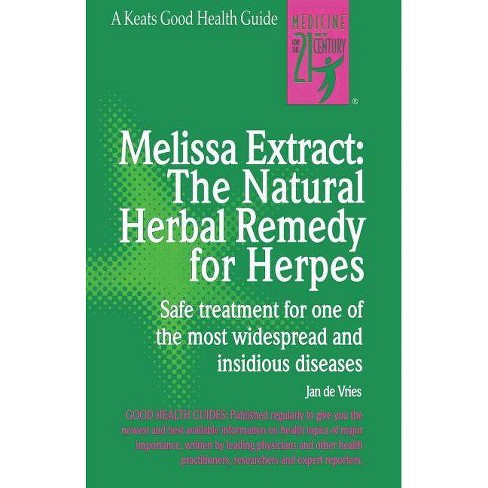 Melissa Extract: The Natural Remedy for Herpes - by  Jan de Vries (Paperback) - image 1 of 1