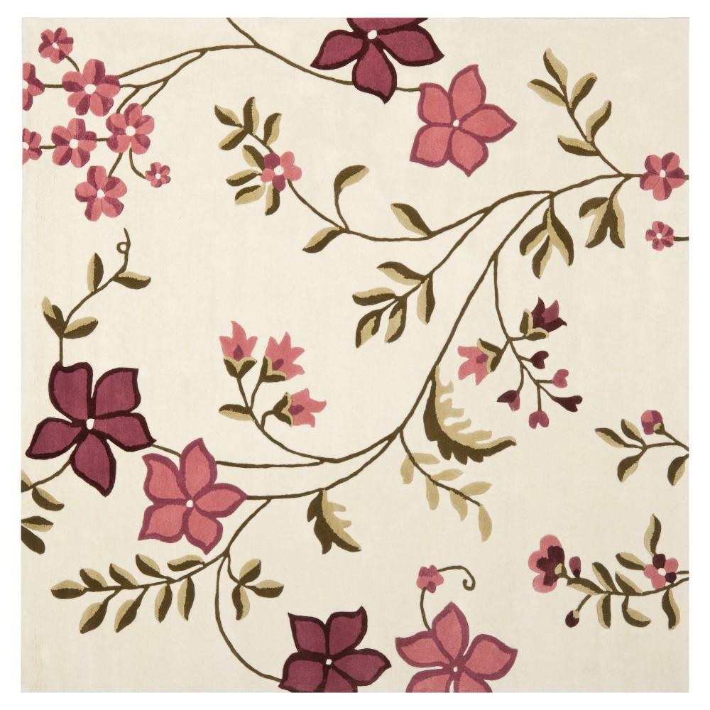 Capri Rug - Ivory/Purple - (7'X7' Square) - Safavieh, White