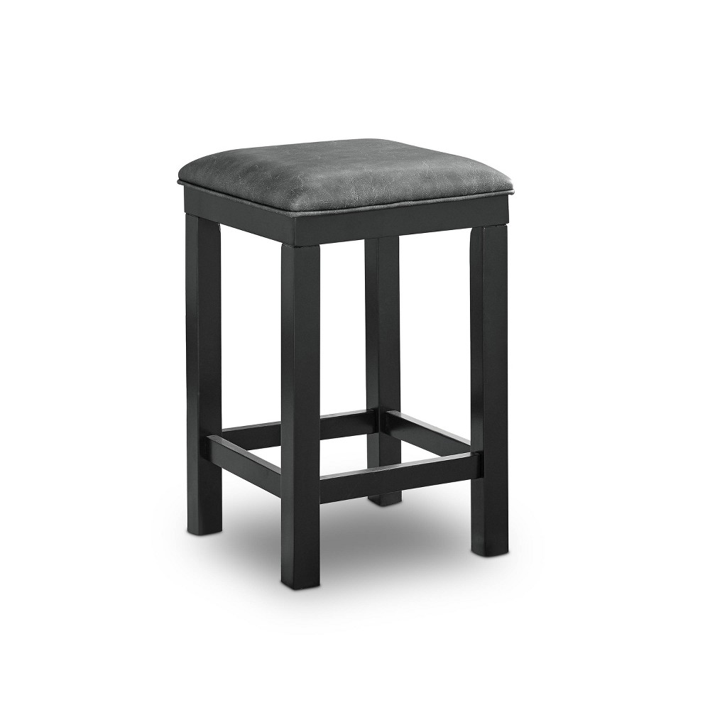 Top Set of 2 Ferncliff Padded Seats Counter Height Stool Black/Gray - HOMES: Inside + Out