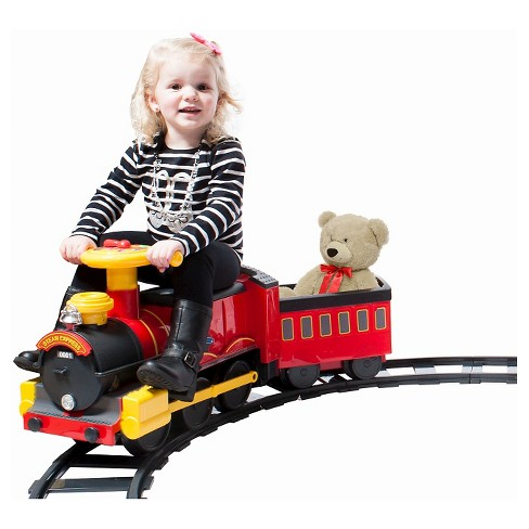 Rollplay Steam Train with Tracks ERO 6V - image 1 of 5