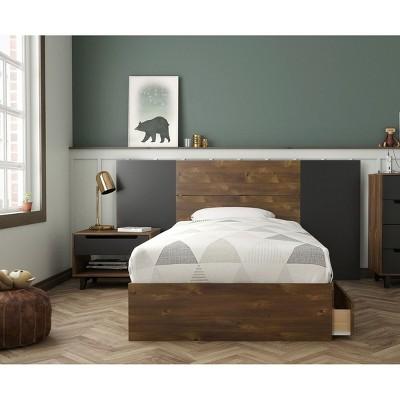 4pc Oscuro Bedroom Bundle Truffle/Black - Nexera