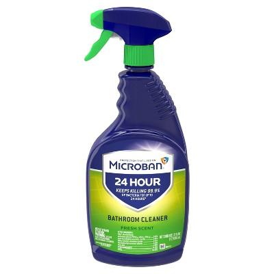 Microban 24 Hour Bathroom Cleaner and Sanitizing Spray - Fresh Scent - 32 fl oz