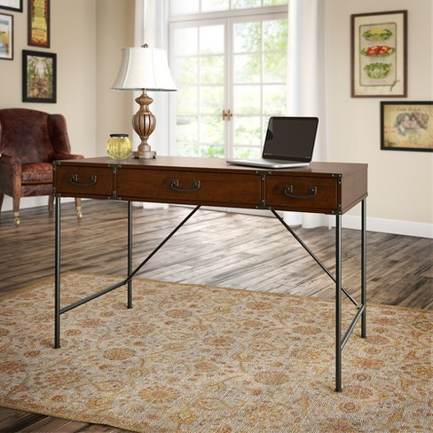 45 12 Kathy Ireland Office Ironworks Writing Desk Gold Bush