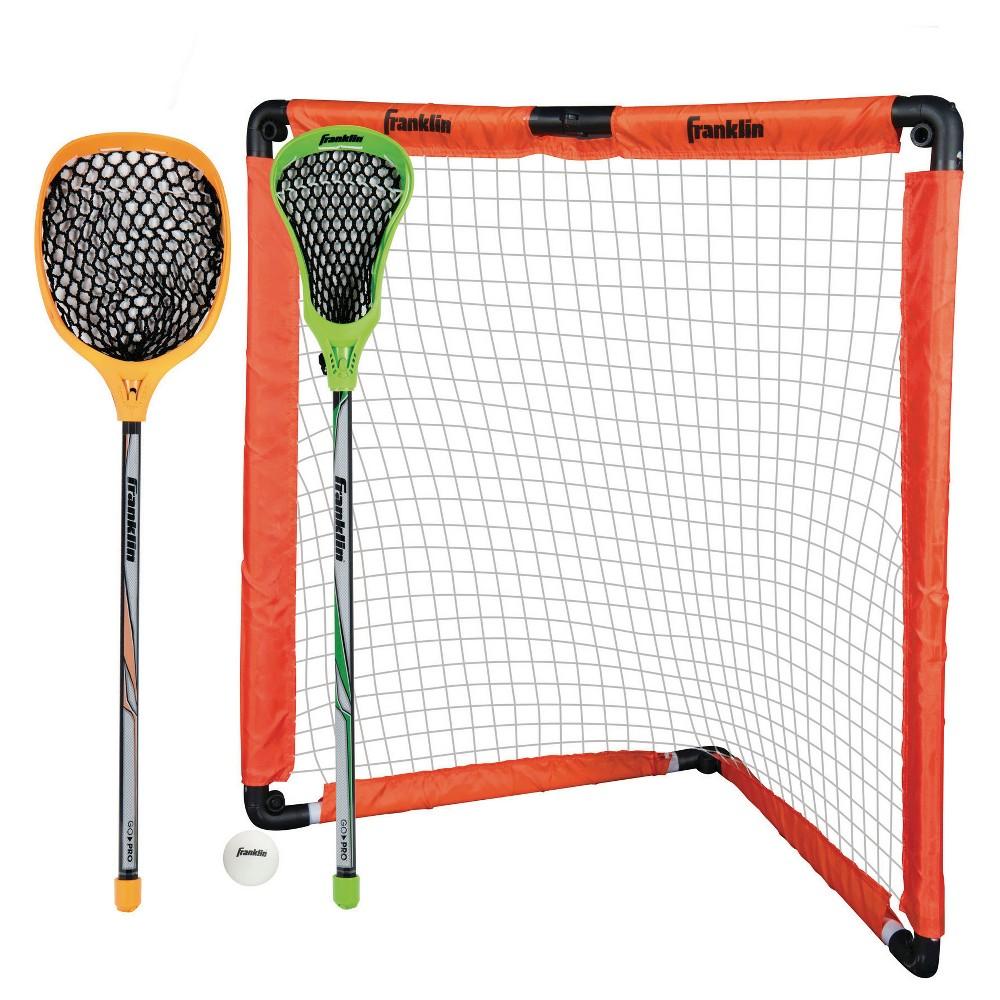 Franklin Sports Youth Lacrosse Goal & Stick Set, Brown