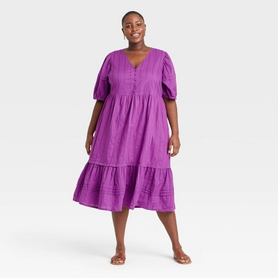 Women's Puff Elbow Sleeve Dress - Universal Thread™