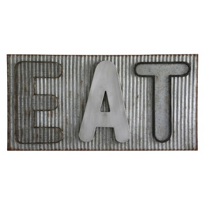 20  Eat Barn Tin Metal Decorative Wall Art Aluminum - StyleCraft