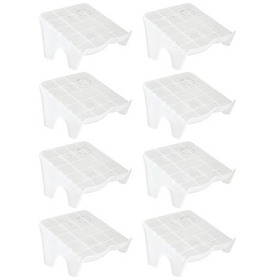 mDesign Plastic Double Shoe Slot Stacker, Space-Saver - 8 Pack