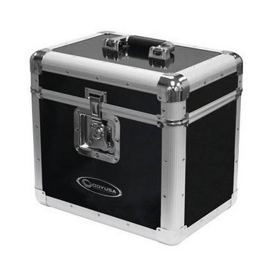 Odyssey KROM Transport Case for 70, 12 Inch Vinyl Records, Silver (2 Pack)