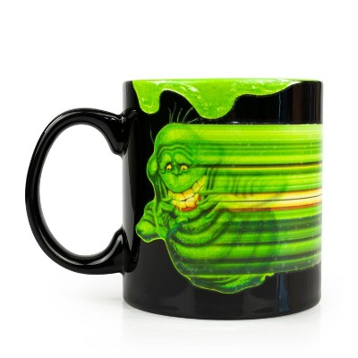 Just Funky OFFICIAL Ghostbusters Coffee Mug   Glow-In-The-Dark Slimer   Ceramic 20 Oz. Cup
