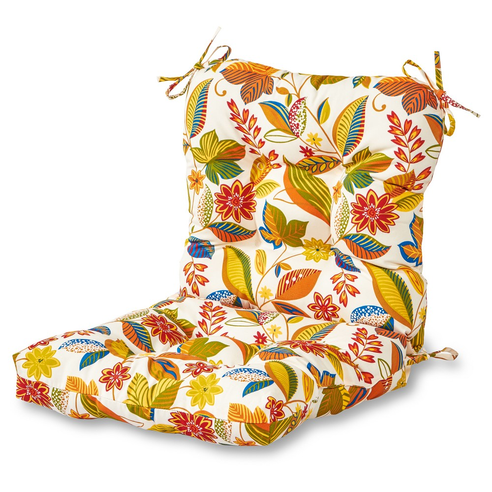 Image of Esprit Floral Outdoor Seat/Back Chair Cushion - Greendale Home Fashions