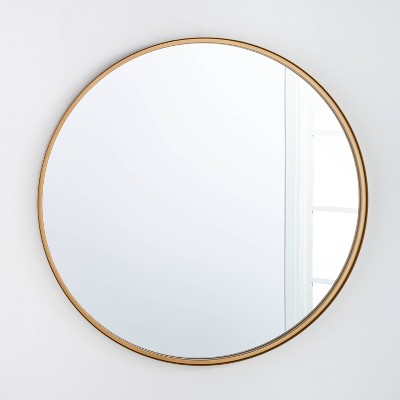 "34"" Round Decorative Wall Mirror Brass - Threshold™ designed with Studio McGee"