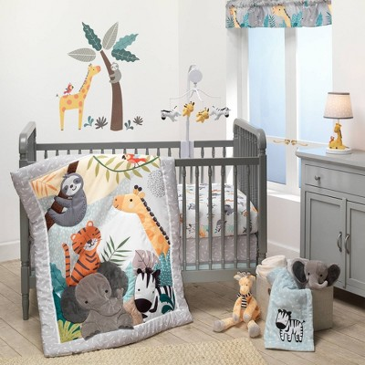 Lambs & Ivy Mighty Jungle Crib Bedding Set - 3pc