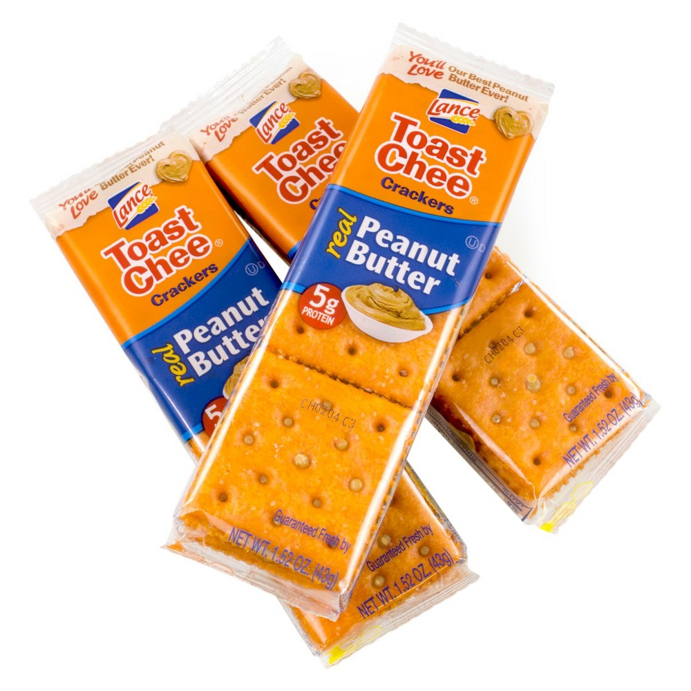 Lance Real Peanut Butter Toast Chee Crackers - 1.62oz / 40pk