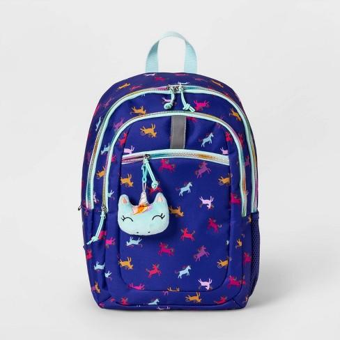 "17"" Unicorn Kids' Backpack Dark Blue - Cat & Jack™ - image 1 of 3"