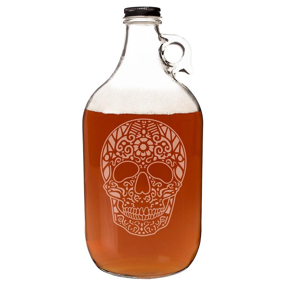 Image of Halloween Sugar Skull Growler, Clear