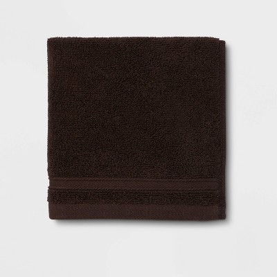 Performance Washcloth Dark Brown - Threshold™
