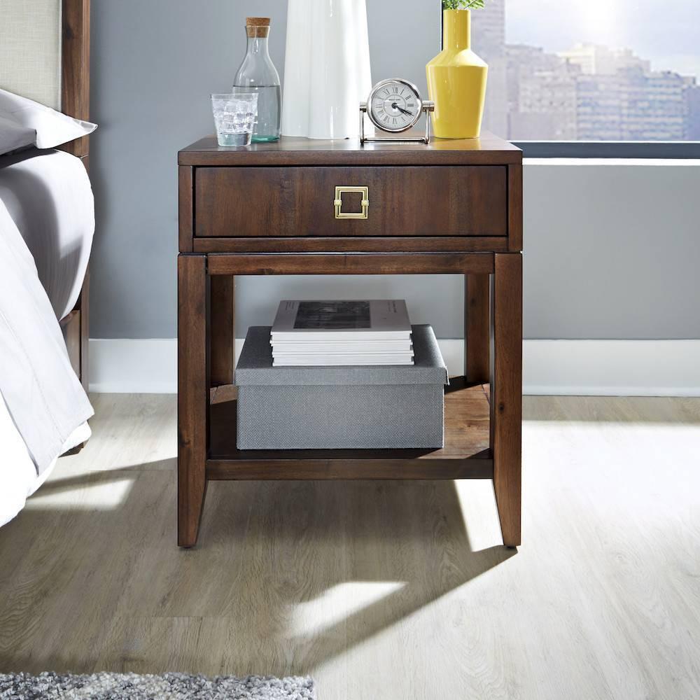 Bungalow Nightstand Medium Brown Home Styles